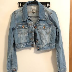 Old Navy Blue Jean Jacket size Medium